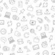 Internet icons pattern