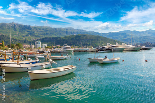 Foto op Canvas Caraïben Dock for boats and yachts Budva