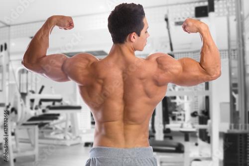 Poster Bodybuilder Bodybuilding Muskeln Rücken Bizeps Fitnessstudio Ma