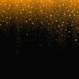 Gold glitter stardust background. Vector illustration - 128790498