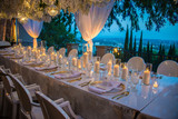 hollywood hills wedding reception dinner party