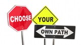 Choose Your Own Path Decide Which Way Signs 3d Animation