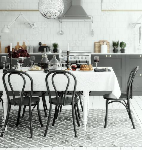 Kitchen Arrangement (focus) Poster