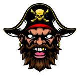 Pirate Mascot Wall Sticker
