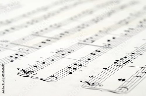 Music score background - 128842692