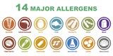 iconos de alergenos mas importantes - 128853295