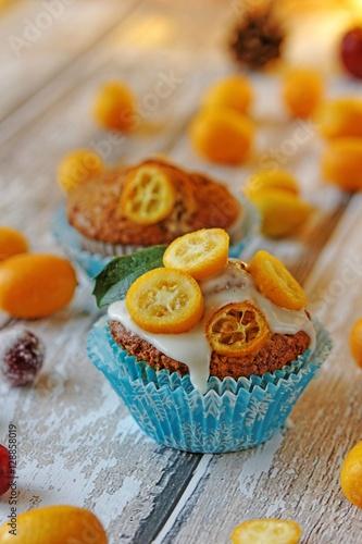 Poster Orange cranberry muffins
