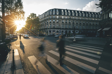 Evening light in the Streets - Paris