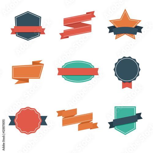 Set of Modern Flat Design Style Badges. Vintage Label and Badges - Vol. 4.