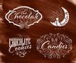 Set chocolate labels brown