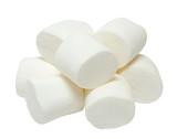 Marshmallows isolated on white background - 128889663