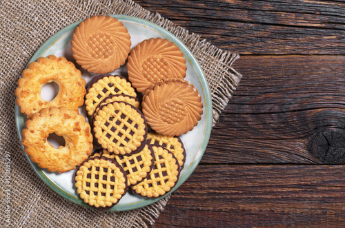 Poster Cookies in plate