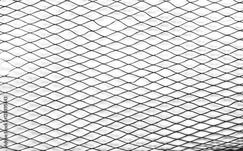 Aluminium Textures Plastic mesh / View of plastic mesh on white background.