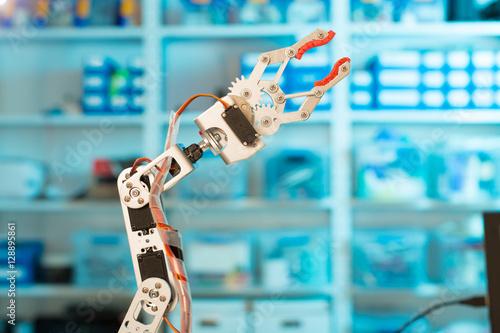 Poster Model of industrial robot manipulator, robot arm