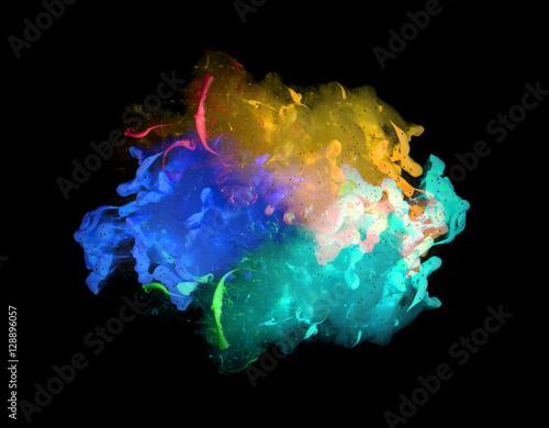 Fotobehang Kleuren in het water Acrylic colors and ink in water. Abstract background.