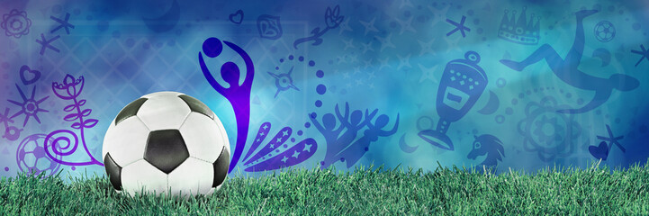 Football, Soccer, Russia, Blue Background