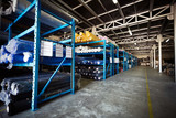 Textile warehouse storing materials - 128906669