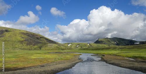 Im Hochland bei Landmannalaugar in Island Poster