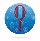racket christmas icon in circle
