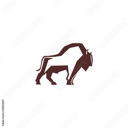 bull,cow,buffalo, strong logo