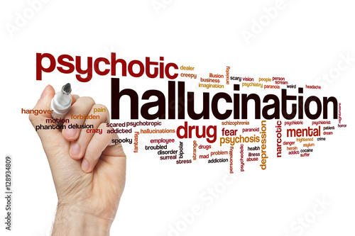 Poster Hallucination word cloud concept