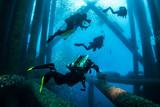 Oil rig dive crew