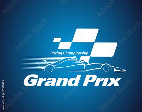 Plexiglas F1 Vector Grand Prix Racing Championship logo or symbol