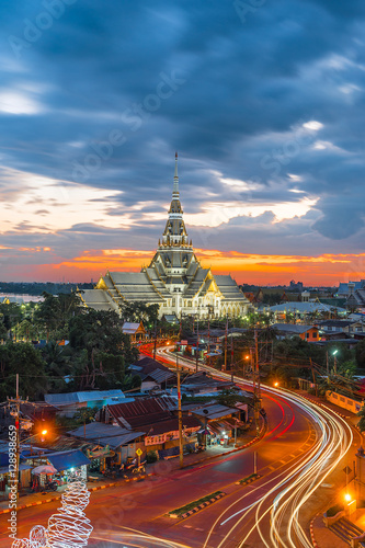 Poster Twilight, Wat Sothon Wararam Worawihan, Chachoengsao province, Thailand