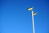 LED street lamp against blue sky - 128941275