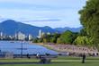 Vancouver skyline from Kitsilano beach