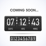 Coming soon countsown website timer template