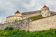 Medieval castle in Rasnov, Romania. Fortress was built between 1211 and 1225