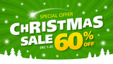 Christmas sale banner, special offer