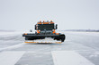 Snow machines on the winter runway