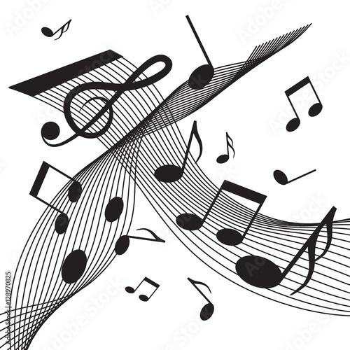personal-y-notas-resumen-vector-fondo-de-musica