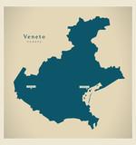 Modern Map - Veneto IT Italy - 128971823
