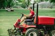 Fairway mower. Golf course maintenance equipment, fairway mower