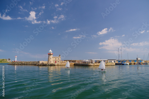 Plakat Howth Harbour and Lighthouse, Dublin, Irlandia