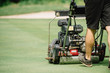 Golf course maintenance equipment,. Golf course maintenance equipment, greens mower