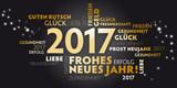 2017 Neujahrsgruss schwarz und gold - Wünsche auf deutsch.