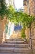 Old narrow stone street of Vis