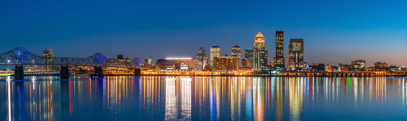 View of Skyline downtown Louisville