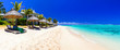 Serene tropical holidays - perfect white sandy beaches of Mauritius island