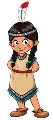 Vektor Illustration eines niedlichen Indianermädchens © Christine Wulf