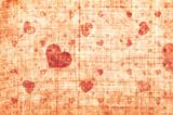 Grunge hearts background  - 129032897