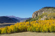 Mountain valley during fall colors in Colorado