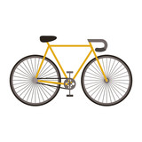 Bike vehicle icon. Bicycle cycle healthy lifestyle sport and leisure theme. Isolated design. Vector illustration
