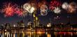 Feuerwerk über Frankfurt am Main