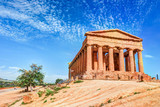 The famous Temple of Concordia in the Valley of Temples near Agrigento, Sicily - 129064255
