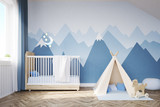 Fototapety Baby's room with a bed and tent